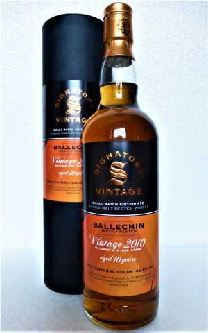 EDRADOUR BALLECHIN 2010 1ST FILL SHERRY BUTT & 1ST FILL BOURBON BARREL 48,1% VOL SIGNATORY SMALL BATCH EDITION #10