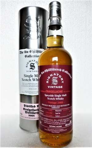 CRAIGELLACHIE 2008 FOR GERMANY THE UN-CHILLFILTERED COLLECTION FIRST FILL SHERRY BUTT 46% VOL SIGNATORY