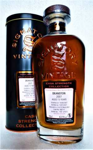 DEANSTON 2007 FIRST FILL SHERRY BUTT 63,9% VOL SIGNATORY CASK STRENGTH COLLECTION
