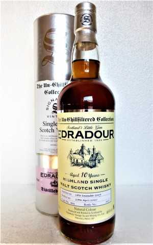 EDRADOUR 2009 THE UN-CHILLFILTERED COLLECTION 10 JAHRE 46% VOL FASS NR. 401 SIGNATORY