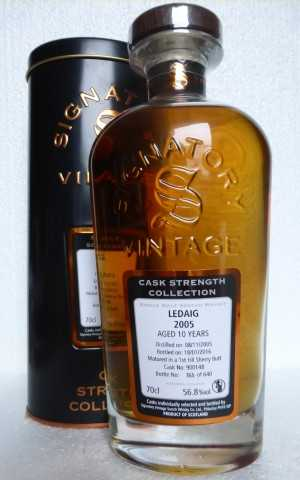 LEDAIG 2005 1ST FILL SHERRY BUTT 56,8% VOL SIGNATORY CASK STRENGTH COLLECTION