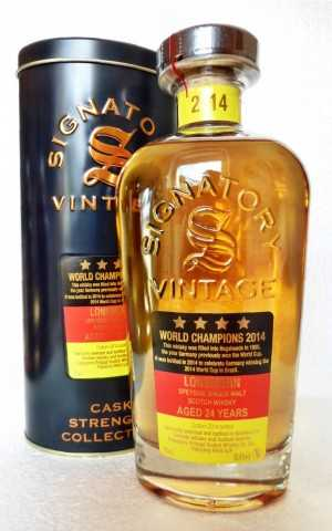 LONGMORN 1990 WORLD CHAMPIONS 2014 HOGSHEADS 55,4% VOL SIGNATORY CASK STRENGTH COLLECTION