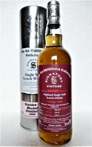 MACDUFF 2008 EXCLUSIVE FOR GERMANY THE UN-CHILLFILTERED COLLECTION FIRST FILL SHERRY BUTT 46% VOL SIGNATORY