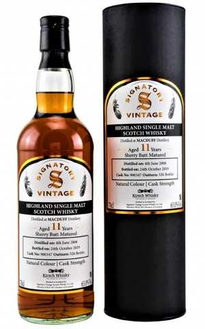 MACDUFF 2008  EXCLUSIVE FOR GERMANY  SHERRY BUTT 63% VOL   SIGNATORY