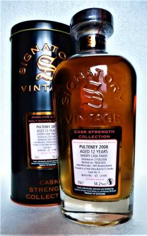 PULTENEY 2008 FRESH SHERRY BUTT FINISH 56,2% VOL SIGNATORY CASK STRENGTH COLLECTION