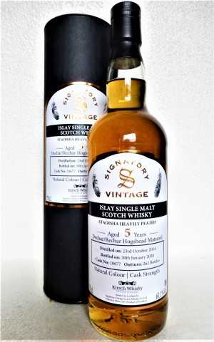 BUNNAHABHAIN STAOISHA 2014 EXCLUSIVE FOR GERMANY DECHAR/RECHAR HOGSHEAD 61,1% VOL SIGNATORY