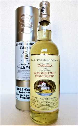 CAOL ILA 1995 BOTTLED FOR WALDHAUS AM SEE ST. MORITZ 46% VOL THE UN-CHILLFILTERED COLLECTION  SIGNATORY