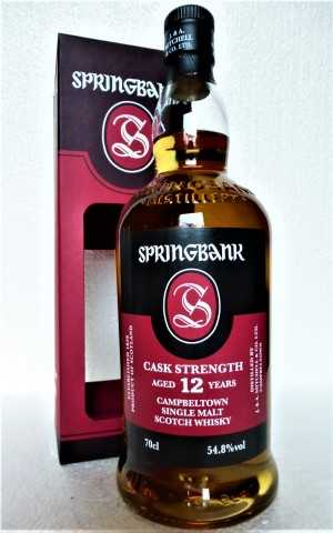 SPRINGBANK 12 JAHRE CASK STRENGTH BATCH #18 54,8% VOL ORIGINALABFÜLLUNG