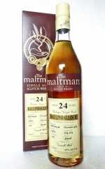 BALLINDALLOCH 1989 REFILL SHERRY CASK 45% VOL THE MALTMAN