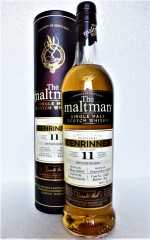 BENRINNES 2009 MADEIRA CASK 50,4% VOL THE MALTMAN