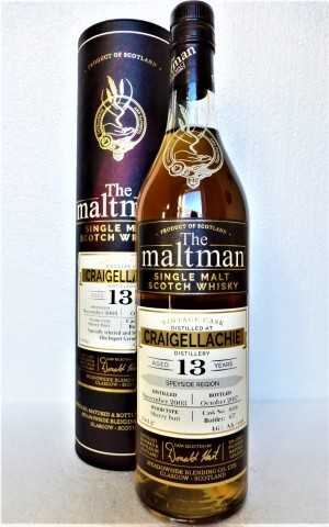 CRAIGELLACHIE 2003 SHERRY BUTT 46% VOL THE MALTMAN EXCLUSIVE FOR GERMANY