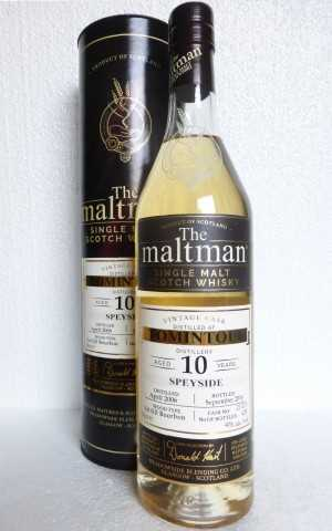 "TOMINTOUL 2006 FIRST FILL BOURBON CASK 46% VOL THE MALTMAN ""10TH ANNIVERSARY OF ALBA IMPORT"""