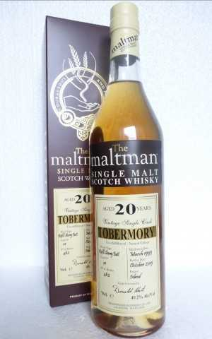 TOBERMORY 1995 REFILL SHERRY BUTT 49,2% VOL THE MALTMAN