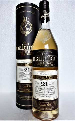 TOBERMORY 1996 BOURBON CASK 46,1% VOL THE MALTMAN EXCLUSIVE FOR GERMANY