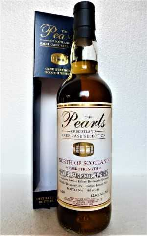 NORTH OF SCOTLAND 1971 CASK STRENGTH 42,6% VOL EXCLUSIVE FOR GERMANY THE PEARLS OF SCOTLAND