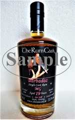 BARBADOS SINGLE CASK RUM 2000 MG DESTILLERIE 19 JAHRE 55,1% VOL THERUMCASK SAMPLE