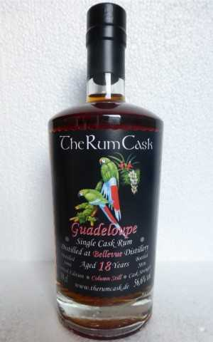 GUADELOUPE SINGLE CASK RUM 1998 BELLEVUE DESTILLERIE 18 JAHRE 56,6% VOL THERUMCASK