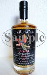 GUYANA SINGLE CASK RUM 1997 UITVLUGT DESTILLERIE 20 JAHRE 56,5% VOL THERUMCASK SAMPLE