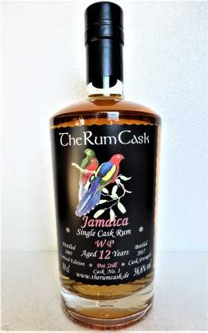 WP 2005 JAMAICA SINGLE CASK RUM 12 JAHRE 56,6% VOL THERUMCASK