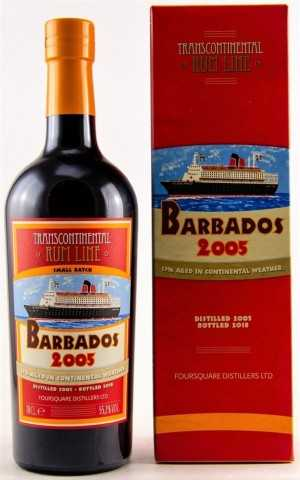 BARBADOS RUM 2005 FOURSQUARE DESTILLERIE RUM CASK FINISH 55,2% VOL TRANSCONTINENTAL RUM LINE