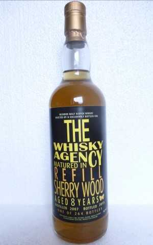 BLENDED MALT SCOTCH WHISKY 2007 REFILL SHERRY WOOD 50,7% VOL THE WHISKY AGENCY