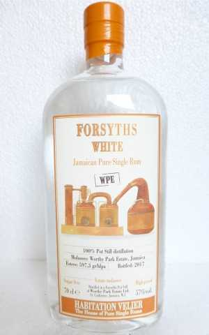 HABITATION VELIER FORSYTHS WPE WHITE JAMAICA PURE SINGLE RUM 57% VOL VELIER