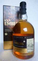 KILN EMBERS BLENDED MALT SCOTCH WHISKY HEAVILY PEATED 46% VOL WEMYSS MALTS