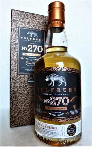 WOLFBURN NO. 270 SMALL BATCH RELEASE 46% VOL FIRST FILL EX-BOURBON BARRELS ORIGINALABFÜLLUNG